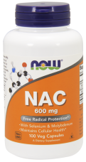 NAC N-Acetyl Cysteín 600 mg Now Foods