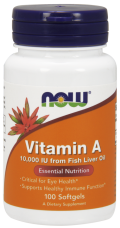 Vitamín A 10.000 IU Now Foods