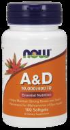 Vitamín A + D 10.000/400 IU Now Foods