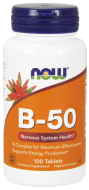 B-Komplex 50 mg Now Foods