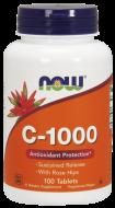 Vitamín C 1000 mg, šípky + bioflavonoidy Now Foods