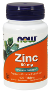 Zinok 50 mg Now Foods