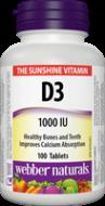 D3 vitamin 1000 IU Webber Naturals
