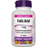 Folic Acid 1 mg Webber Naturals