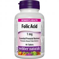 Folic Acid (kyselina listová) 1 mg Webber Naturals