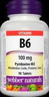 Vitamín B6 100 mg Webber Naturals