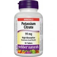 Potassium Citrate 99 mg Webber Naturals