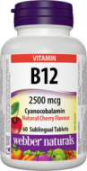 Vitamín B12 2500 mcg Webber Naturals