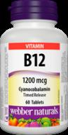Vitamín B12 1200 mcg časované Webber Naturals