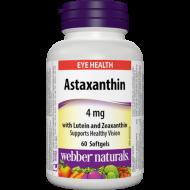 Astaxantín s Luteínom a Zeaxantínom 4 mg Webber Naturals