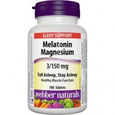 Melatonin + Magnesium 3/150 mg Webber Naturals