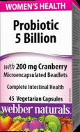 Probiotiká pre ženy s brusnicami Webber Naturals