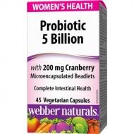 Probiotic 5 Billion, Cranberry Webber Naturals