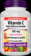 C + A + D3 vitamin 500 mg Tropical Breeze Webber Naturals