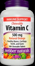 C vitamin 500 mg Natural Orange Webber Naturals