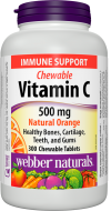 C vitamin 500 mg Natural Orange Webber Naturals