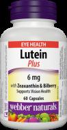 Luteín 6 mg s Čučoriedkami Webber Naturals