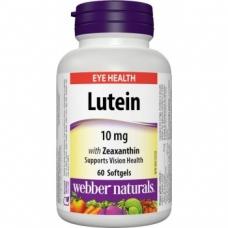 Lutein, Zeaxanthin 10 mg Webber Naturals