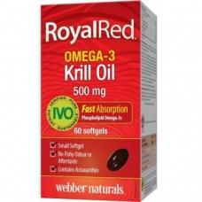 Omega-3 RoyalRed Krill Oil 500 mg Webber Naturals