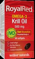 Omega-3 RoyalRed Krill Olej 500 mg Webber Naturals