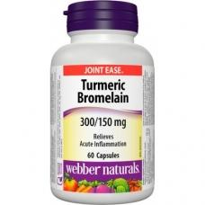 Turmeric + Bromelain 300/150 mg Webber Naturals