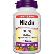 Niacín 500 mg nealergický Webber Naturals