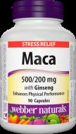 Maca + Ženšen 500 mg / 200 mg Webber Naturals