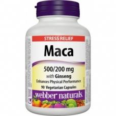 Maca, Ginseng 500/200 mg Webber Naturals