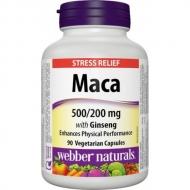 Maca + Ženšen 500/200 mg Webber Naturals