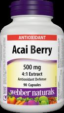 Acai Berry 500 mg Webber Naturals