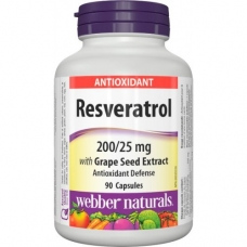 Resveratrol, Grape Seed 200/25 mg Webber Naturals