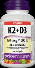 K2 + D3 vitamin Webber Naturals