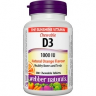 D3 vitamin 1000 IU Natural Orange Webber Naturals