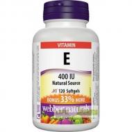 Vitamín E 400 IU BONUS Prírodný zdroj Webber Naturals