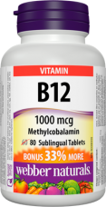 Vitamín B12 1000 mcg (Metylcobalamin) BONUS Webber Naturals