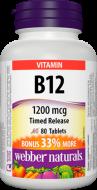Vitamín B12 1200 mcg časované BONUS Webber Naturals