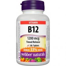 Vitamín B12 1200 mcg s postupným uvoľnovaním Webber Naturals