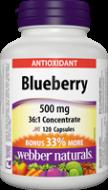 BlueBerry extrakt 500 mg BONUS Webber Naturals