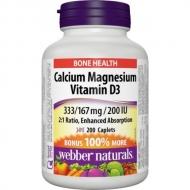 Calcium, Magnesium, Vitamin D3 333mg/167 mg/200 IU Webber Naturals
