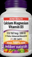 Calcium + Magnézium + Vitamín D3 BONUS Webber Naturals