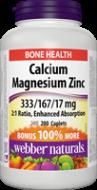 Calcium + Magnézium + Zinok BONUS Webber Naturals