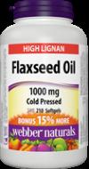 Ľanový olej 1000 mg Bonus Webber Naturals