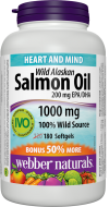 Omega-3 Salmon Oil 1000 mg Webber Naturals