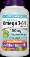 Omega 3-6-9 1200 mg Bonus Webber Naturals