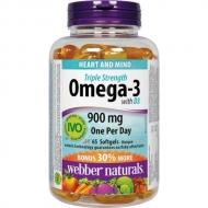 Omega-3, Vitamin D3 900 mg Webber Naturals