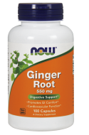Zázvor 550 mg (Ginger Root) Now Foods