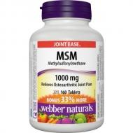 MSM (methyl-sulfonyl-methane) 1000 mg Webber Naturals
