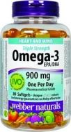 Omega-3 trojitá sila s vitamínom D3 Webber Naturals