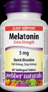 Melatonin 5 mg FORTE Webber Naturals
