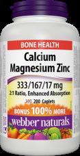 Calcium, Magnesium, Zinc Webber Naturals